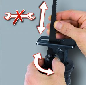 Changement lame rapide sans outil scie sabre Einhell TC-AP 650 E utilisation