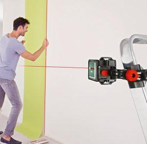 Niveau laser pas cher Bosch Quigo 3 pose papier peint