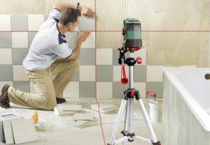 Test niveau laser croix Bosch PCL 20 carrelage