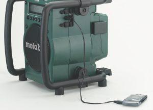 Radio de chantier Metabo RC 14.4-18 chargement telephone