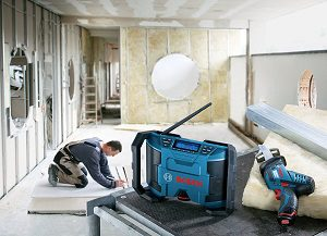 radio de chantier Bosch GML 10,8 V-LI usage