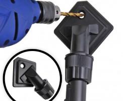 Percer un trou sans poussière: utilisez une buse d'aspirateur